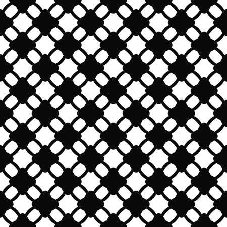 monochromatic: Monochromatic seamless lattice pattern Illustration