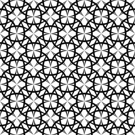 curved line: Seamless monochromatic curved line pattern design