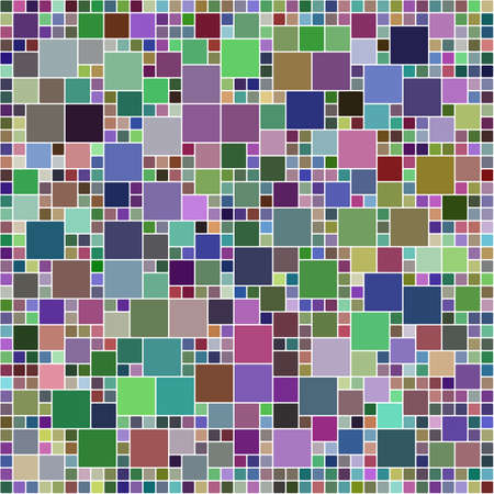 tile pattern: Multicolor square mosaic tile pattern design background Illustration