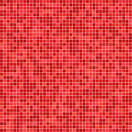 casing: Red computer generated pixel mosaic pattern background
