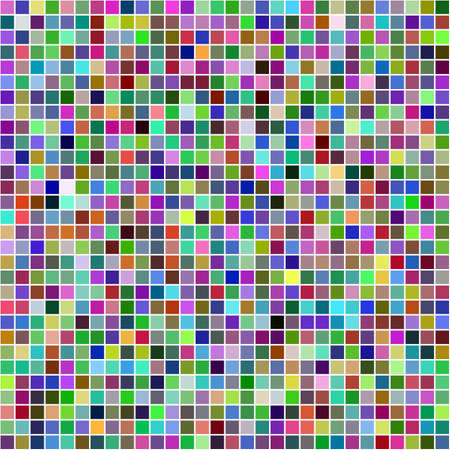 mosaic: Multicolor computer generated square pixel mosaic background