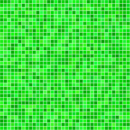 husk: Green computer generated square pixel mosaic background