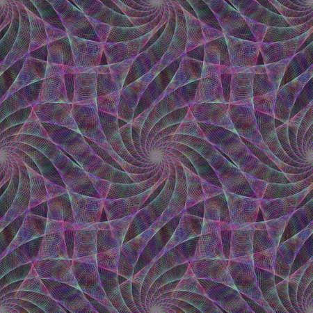 veil: Purple seamless fractal swirling veil pattern background Illustration