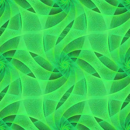 veiled: Green seamless fractal veil pattern background design Illustration
