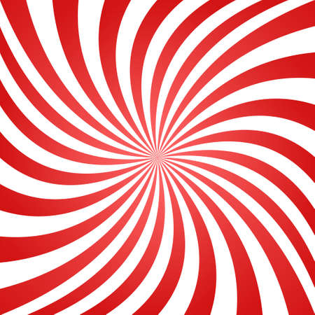 Red white summer spiral ray pattern background