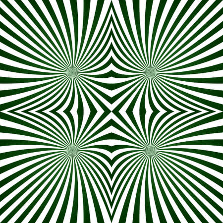 quadrant: Green abstract digital striped symmetric ray pattern