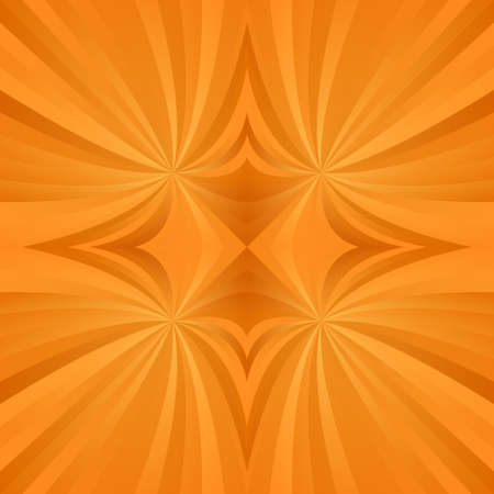 turmoil: Orange abstract digital spiral meditation background design Illustration