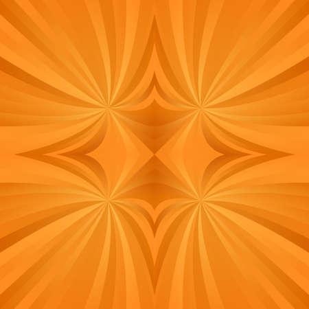 joga: Orange abstract digital spiral meditation background design Illustration