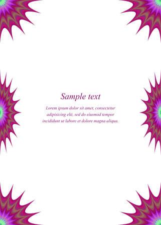 color page: Color page corner design template for invitation, brohcure, presentation