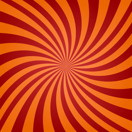twisted: Red and orange twisted ray background design Illustration