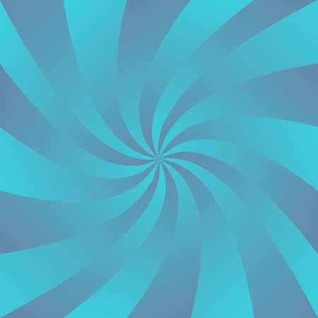 Blue curved ray design background - digital abstract vector