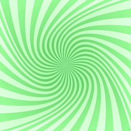 Light green abstract spiral ray pattern background Illustration