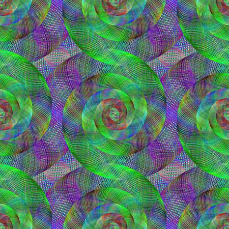 spiral pattern: Green and purple wired fractal spiral pattern