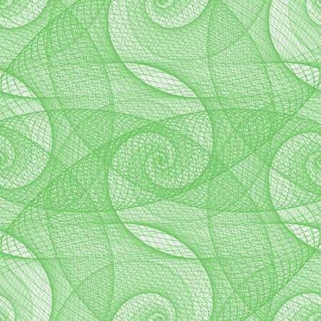 green swirl: Green seamless wired swirl fractal pattern background