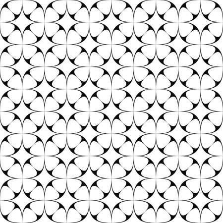 star pattern: Monochrome seamless curved star pattern background design