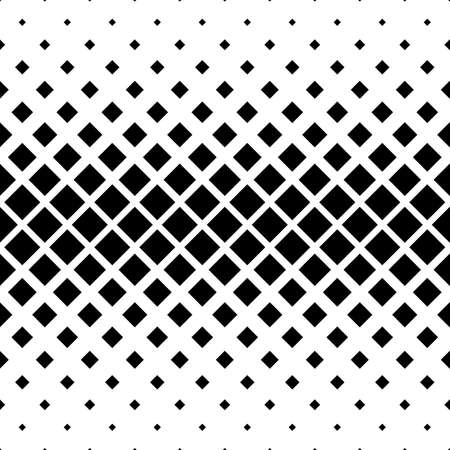 Seamless monochrome square pattern design vector background