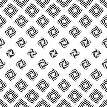 repeating: Monochrome repeating rectangular spiral pattern design background