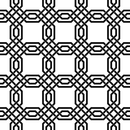 devious: Seamless monochrome lattice pattern design vector background Illustration