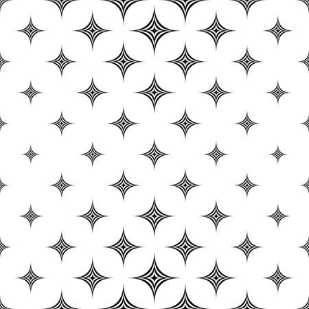 monochromatic: Monochromatic seamless star pattern design vector background