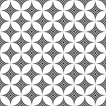 star pattern: Seamless monochromatic star pattern design vector background
