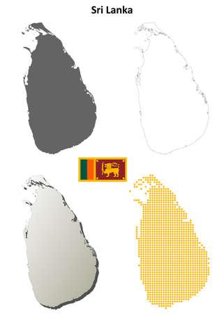 colombo: Sri Lanka blank detailed outline map set