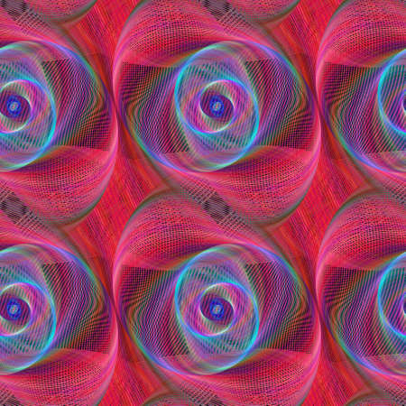 red and blue: Red blue shiny spiral fractal pattern background