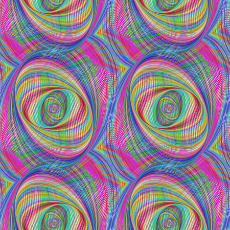 ellipse: Repeating colorful ellipse fractal pattern design background