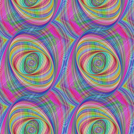 elipse: Repitiendo colorido elipse patrón fractal diseño de fondo