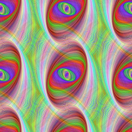 elipse: Seamless colorful ellipse fractal pattern design background Ilustra��o