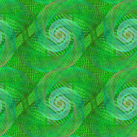green swirl: Green shiny seamless swirl pattern design background Illustration