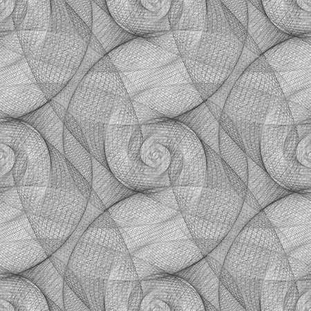 Seamless black and white swirl pattern background