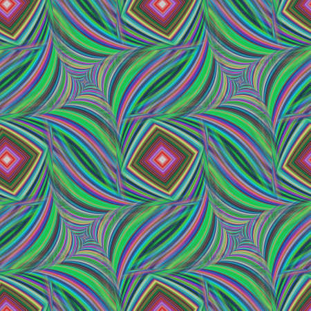 squared: Repeating squared fractal pattern of striped happy colors