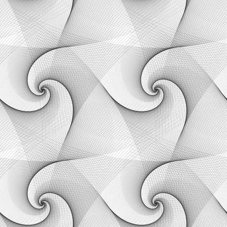 spiral pattern: Seamless abstract black and white spiral pattern