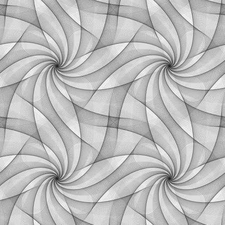 Monochrome seamless fractal veil design pattern background