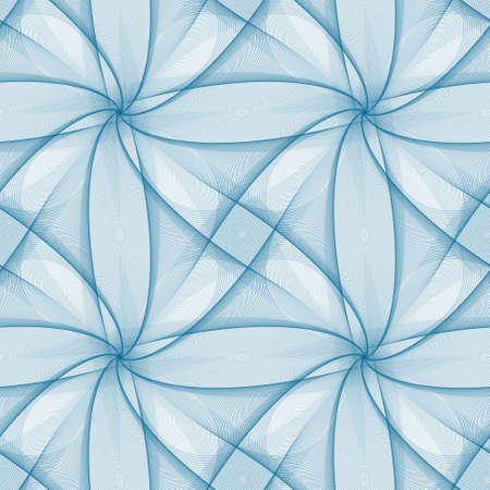 veil: Blue seamless fractal veil pattern design background Illustration