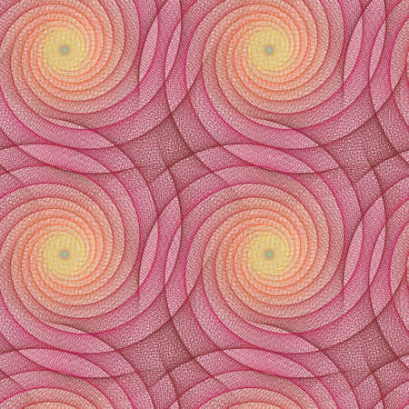 curved line: Abstract repeating fractal curved line pattern design Illustration