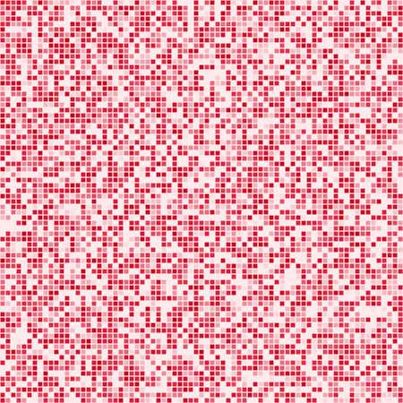 digital background: Red square pixel mosaic digital background design