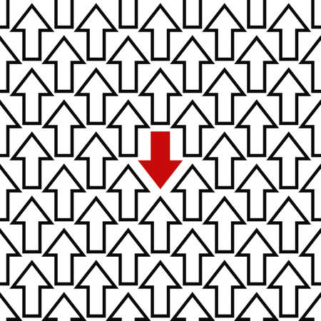 against: Anti trend repeating concept arrow pattern design