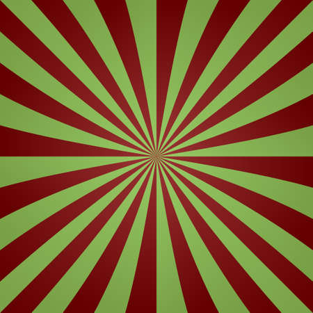 rosso verde: Red green vintage striped ray background design
