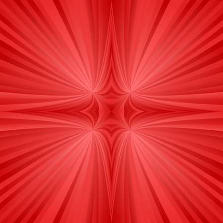 hyperspace: Red abstract digital mirror symmetric ray background