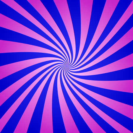 turmoil: Magenta blue spiral background - digital abstract vector Illustration