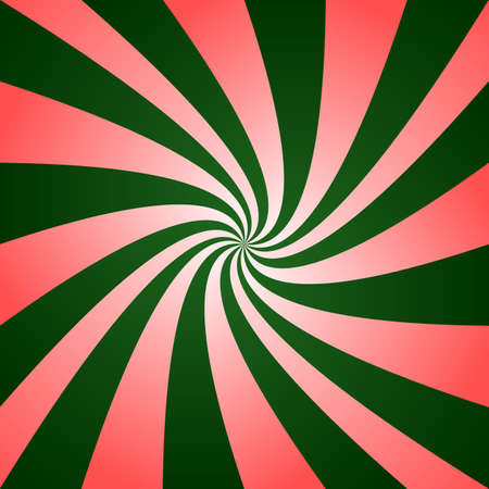Red green twirl design - digital abstract vector