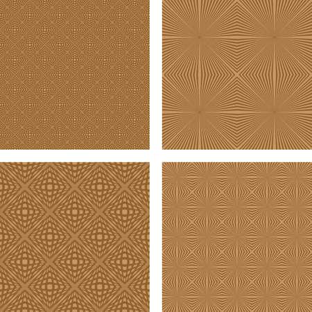 light brown: Light brown retro seamless pattern background set