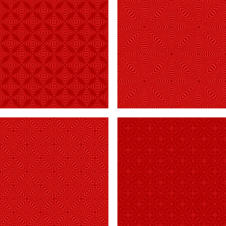 rojo oscuro: Dark red seamless vector pattern background set