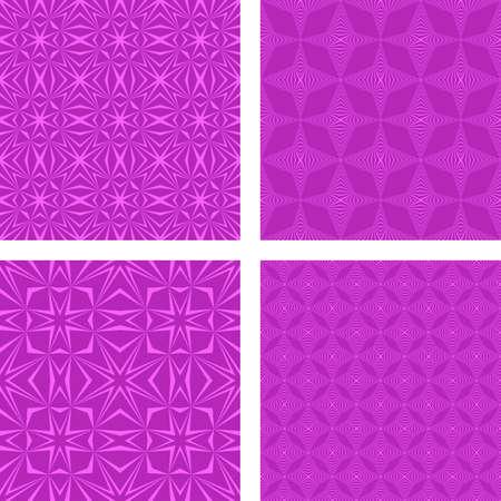 striped band: Magenta seamless vector pattern design background set