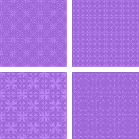 Lavender seamless abstract pattern design background set Illustration