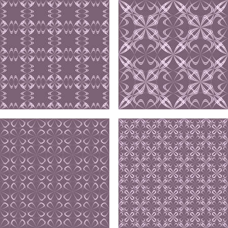 hammered: Vintage seamless abstract pattern design background set