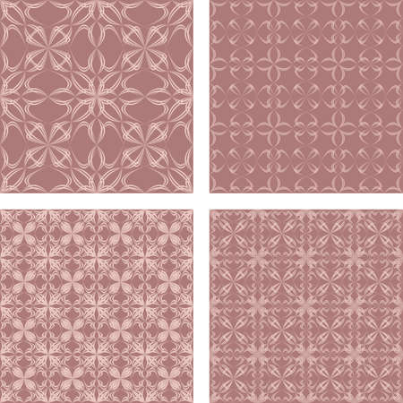 Vintage seamless abstract pattern design background set