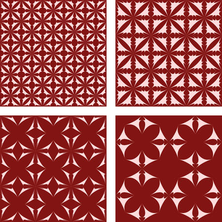 red wallpaper: Maroon abstract seamless vector pattern background set