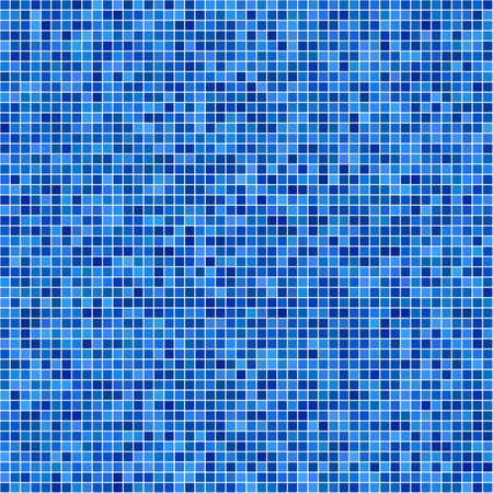 casing: Blue pixel mosaic background